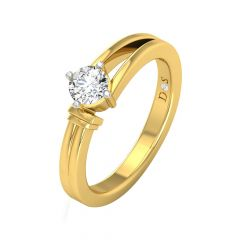 Sizzling Single Solitaire Diamond Ring-RF1555-Y