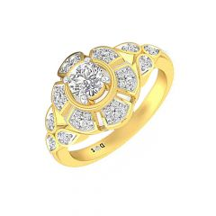 Alluring  Solitaire Diamond Ring-RF1702-Y