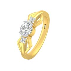 Glittering Solitaire Diamond Ring-RF1724-Y