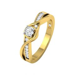Dazzling Intertwined Diamond Ring-RF1757-Y