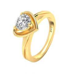 Charming Heart Solitaire Diamond Ring-RF1862-Y