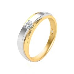 Delicate Single Solitaire Diamond Ring-RM1263-Y