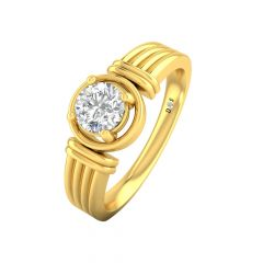 Ravishing Single Diamond Ring-RM1271-Y