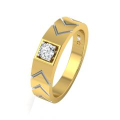 Graceful Casual Wear Solitaire Diamond Ring-RM1291-Y