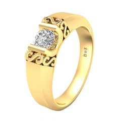Trendy Design Couple Solitaire Ring For Her-RM1311-Y