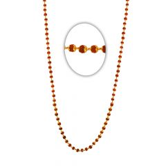 22kt Glossy Finish Rudraksh Beads Gold Necklace-7-A212