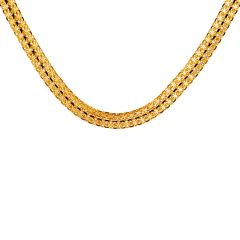 22kt Glossy Finish Double lInks Gold Chain-7-B361