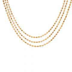 Three Layer Gold Beads Necklace-70036405