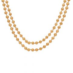 Two Layer Gold Beads Necklace-70064909