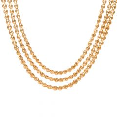Three Layer Gold Beads Necklace-70065009