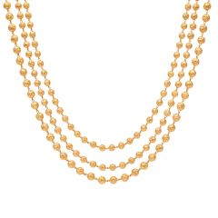 Three Layer Gold Beads Necklace-70098406