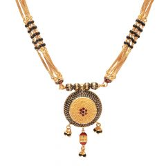 Multilayer Traditional Gold Balls Mangal Sutra-70109106