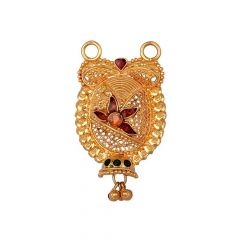 Traditional Design Filigree Enamel Drop Gold Tanmaniya-8-A4