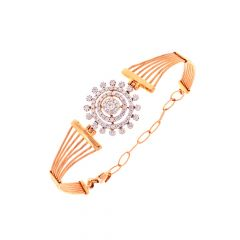 Dazzling Cricular Framing Flexi Diamond Bracelet