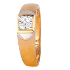 Matte Glossy Finish Sparkling Diamond Mens Band Ring-8045-5355-001