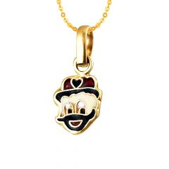 Trendy Enamel Donald Duck 22kt Yellow Gold Pendant For Infant -BJEJ1006