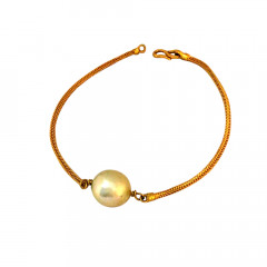 Delicate Synthetic Pearl Contemporary Daily Wear Yellow Gold 22kt Bracelet -85-BTEJ10015