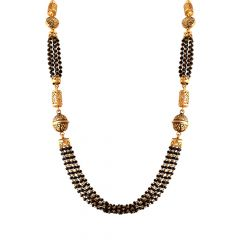 Exotic Bead Layered Gold Mangalsutra-MSEJ100037