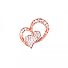 Valentine Day Special Days Rose Gold 18kt with CZ - Cubic Zirconia Pendants-85-PSEJ100121