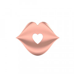 Delicate Lips With Heart Rose Gold 18kt Pendant-PSEJ100127