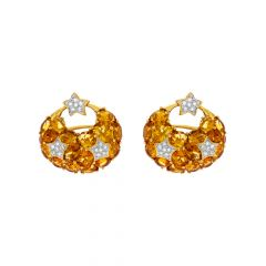 Attractive Gemstone Diamond Earring