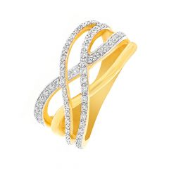 Glitz Interlink Diamond Ring