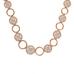 Dazzling Cluster Framing Diamond Necklace