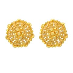Classical Textured Gold Earrings