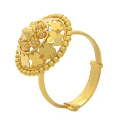 Traditional Dome Adjustable Gold Ring