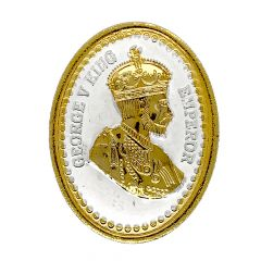 Glossy Gold Polish King George Design Silver Coin