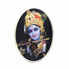 Glossy Finish Krishna Silver Coin