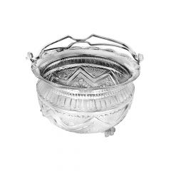 925 Silver Flower Basket