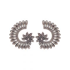 Traditional Antique Curvy Silver Earrings