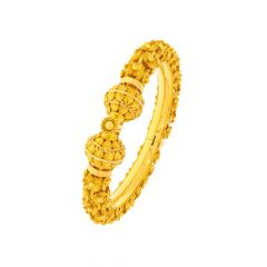 Fleur Traditional Embossed Gold Kada