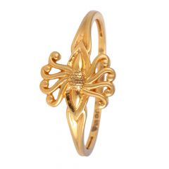 22kt Gold Glossy Finish Embossed Ring - BBGR27