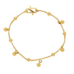 Glossy Finish With Drop Gold Bead Ball Design Bracelet For Women-BCL6862