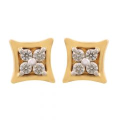 Elegant Prong Set Stud Diamond Earrings
