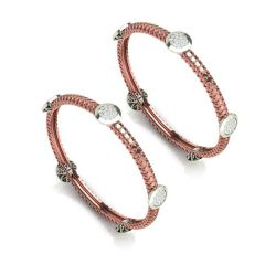Gloria Diamond Rose Gold Bangle - BG4