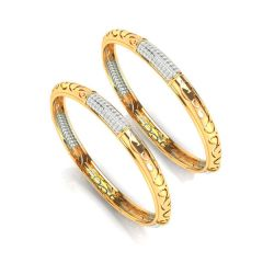 Desma Diamond Gold Bangle - BG5