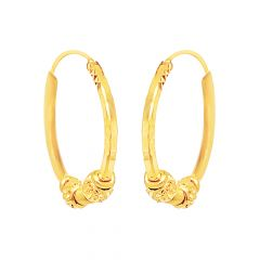 Classic Textured Gold Hoop Earrings