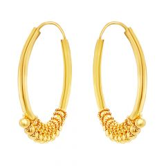 Classic Traditional Hoop Gold Earrings