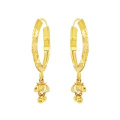 Elite Traditional Textured Gold Earrings