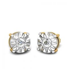 Sparkling Miracle Plate Solitaire Look Diamond Earrings