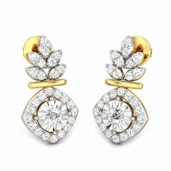 Enhanced Framing Miracle Plate Diamond Earrings