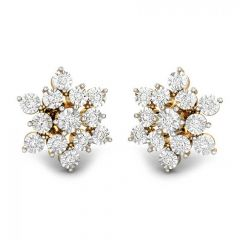 Sizzling Cluster Miracle Plate Diamond Earrings