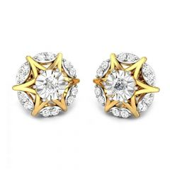 Sparkling Star Dome Miracle Plate Diamond Earrings