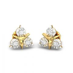Trillion Miracle Plate Diamond Studded Earrings