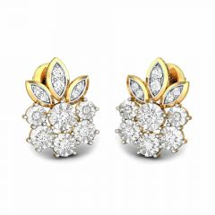 Natural Floral Miracle Plate Diamond Earrings