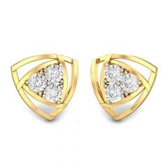 Michetta Triangle Miracle Plate Diamond Earrings