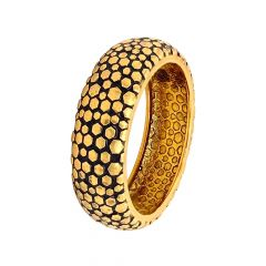 Relic Antique Hexagon Gold Band For Him